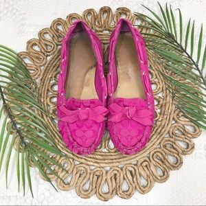 Coach Carisa Pink Boat Shoes
